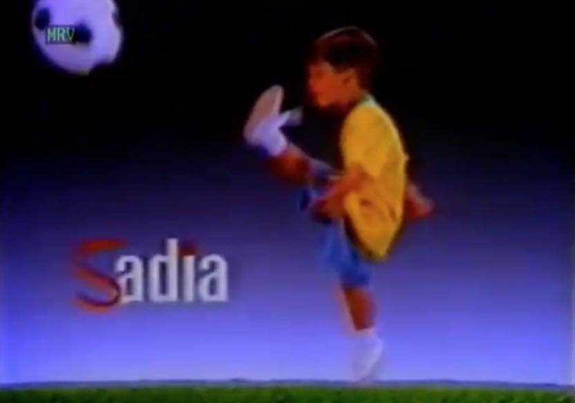 Propaganda antiga da Sadia exibida durante a Copa do Mundo em 1990