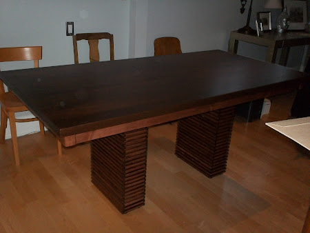 "70"" x 35"" x 30"" Alvarez Dining Table in Espresso and Tuscan Maple"