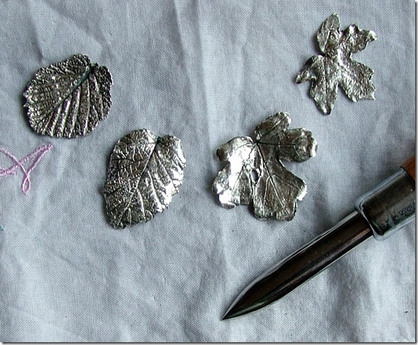 Silver leaves finished