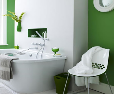 Green Interior Design Bathroom Decoration