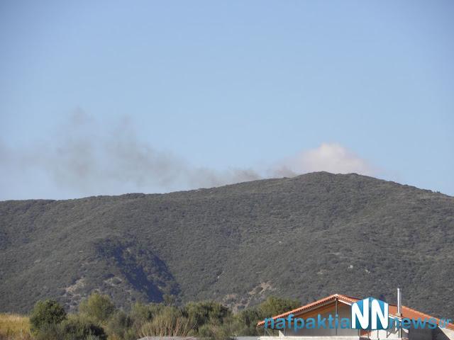 Πυρκαγιά κοντά στο Μολύκρειο…Δείτε φωτογραφίες