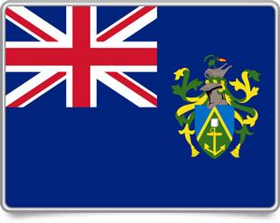Pitcairn Island framed flag icons with box shadow
