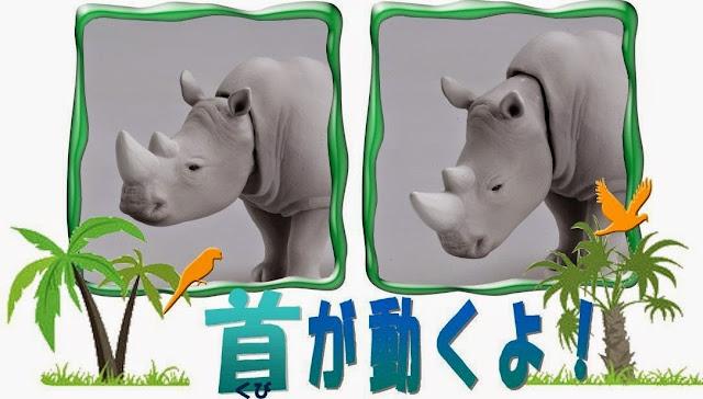 Chú Tê giác trắng Ania AS-07 White Rhino độc đáo với khớp cổ có khả năng cử động đầu