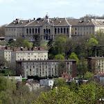 Observatoire de Meudon : vue sur le Village éducatif Saint Philippe depuis la Terrasse