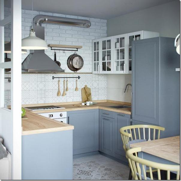Piccoli spazi cucina divisa da vetrata case e interni for Piccoli piani cabina con soppalco e veranda