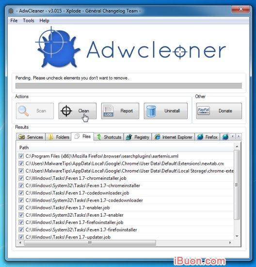 Ảnh mô phỏngGỡ bỏ hoàn toàn WebSearch Toolbar và WebSearch.com - AdwCleaner-Clean-malware