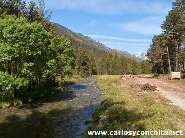 El rio Galba, muy tranquilo aquí