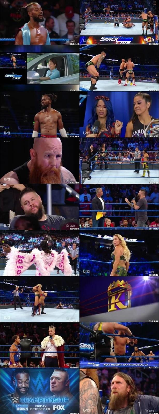 Screen Shot Of WWE SmackDown Live 17th September 2019 HDTV 480P 300MB