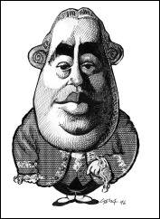 david hume caricature gary brown