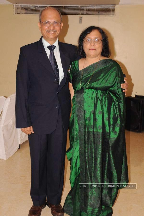 Capt Milind and Smita Hastak during Rotary Club Fort's installation ceremony, held at Heritage Hotel, in Nagpur.