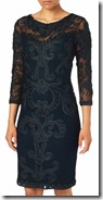 Phase Eight dark navy tapework dress with sleeves