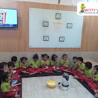 Popcorn Making Activity by Nursery Section at Witty World Bangur Nagar (2018-2019)