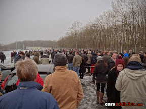A crowd of 400 awaits the Top Gear studio