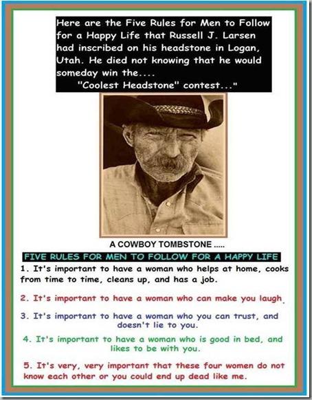 cowboy tombstone