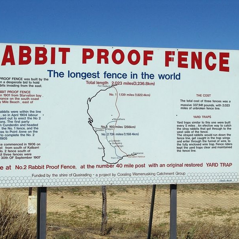 The Rabbit Proof Fence of Australia
