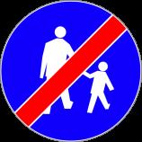 C-16a  koniec drogi dla pieszych  Znak oznacza koniec drogi przeznaczonej tylko dla pieszych.