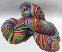Renee's 12 Color Rainbow on Camelot Superwash Merino Aran - Trim Option & Penny Ship