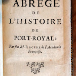 """Site musée national de Port Royal des Champs : musée, exemplaire de l'édition originale de """"Abrégé de l'histoire de Port-Royal"""" de Jean Racine, Cologne, 1742"""