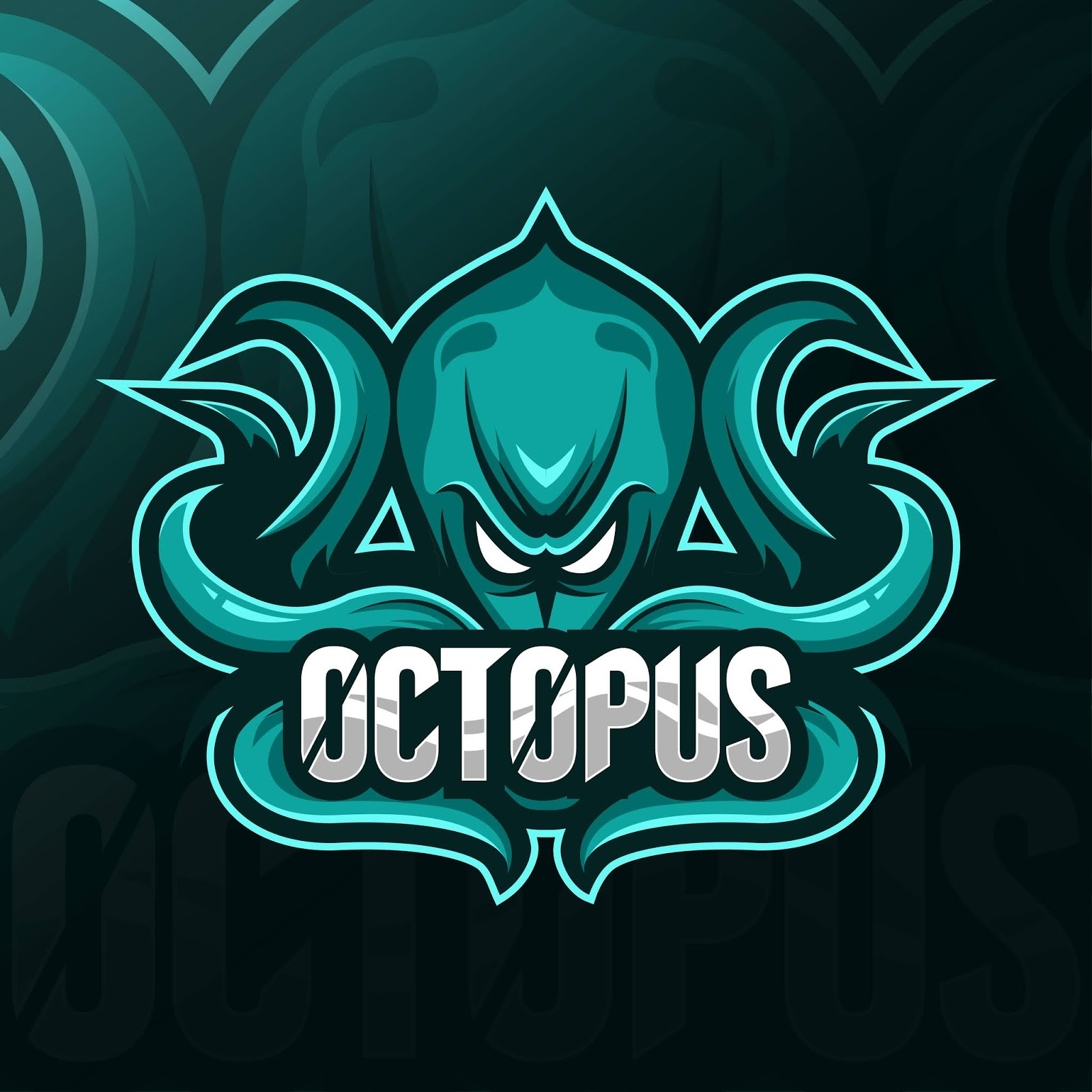 Octopus Mascot Logo Esport Templates Free Download Vector CDR, AI, EPS and PNG Formats