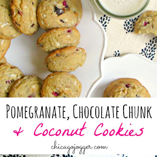 Pomegranate, Chocolate Chunk & Coconut Cookies