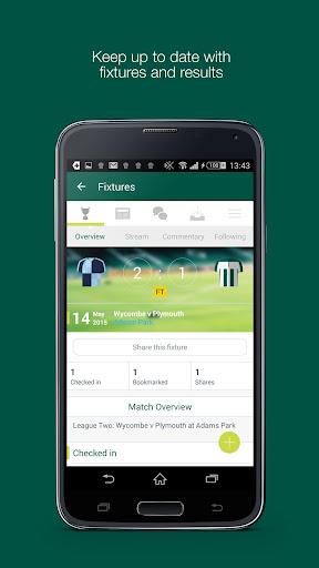 Fan App for Plymouth Argyle FC