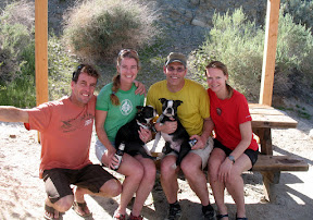 "Bob and Lisa from Bend, Oregon with their Boston Terriers ""Rupert"" and ""Albert"". Bob had been checking our site so we agreed to meet them in Anza Borrego. They have been doing a great trip down from Oregon hitting all the great campsites along the way."
