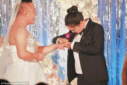 Chinese Groom Forced To Wear Wedding Dress As Fat Shamed Bride Wears Tuxedo On Their Wedding Day