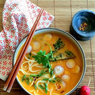 Sweet Potato Curry Noodle Soup