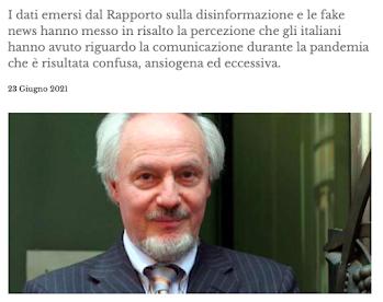 Rapporto Ital Communications-Censis sulle fake news: il commento di Mario Morcellini
