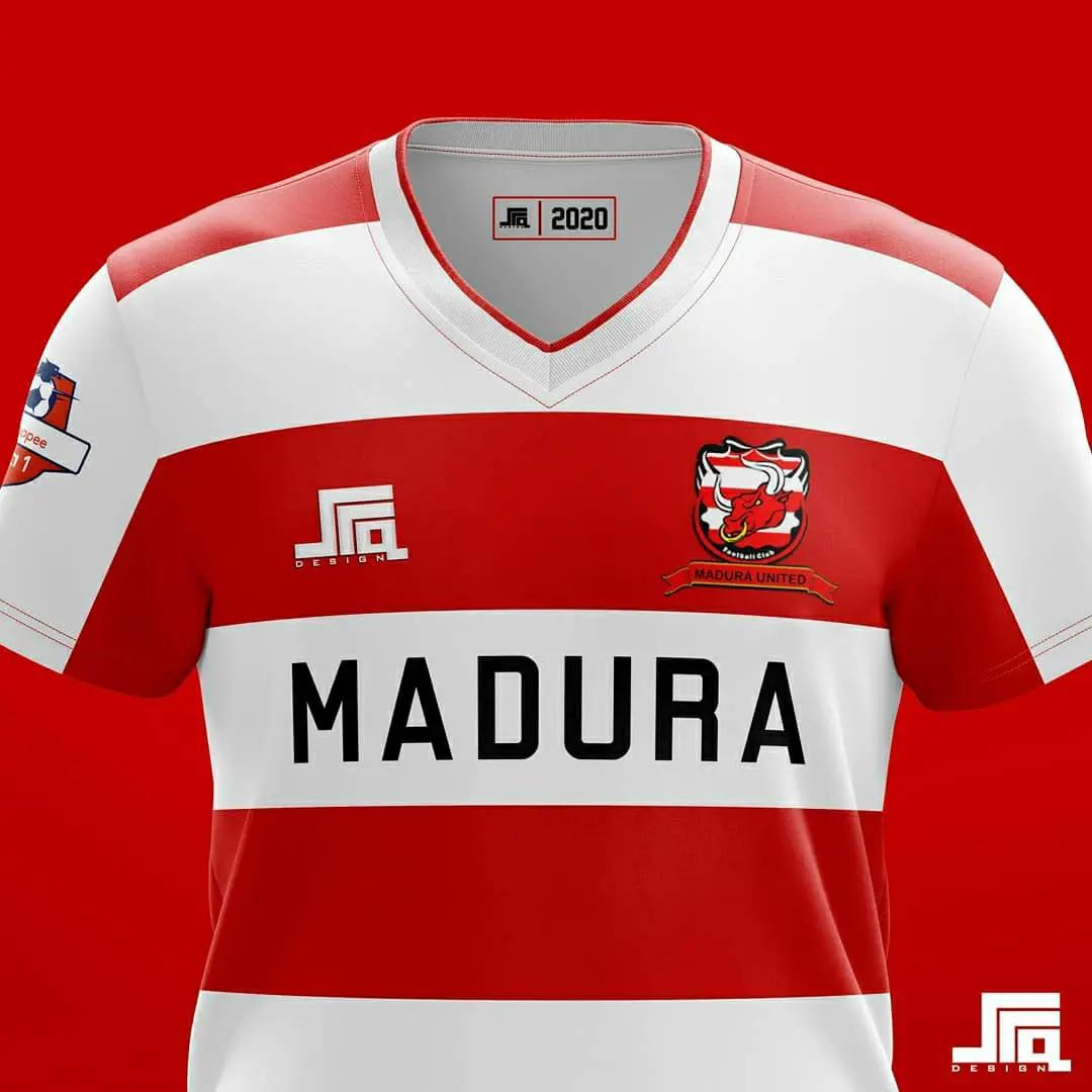 gambar Konsep Jersey Madura United musim 2020/2021