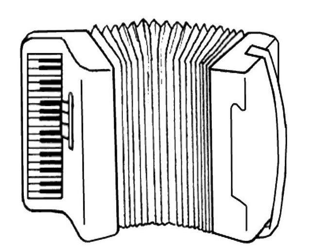 Dibujos De Instrumentos Musicales Para Imprimir Y Colorear: INSTRUMENTOS MUSICALES EL ACORDEON PARA PINTAR