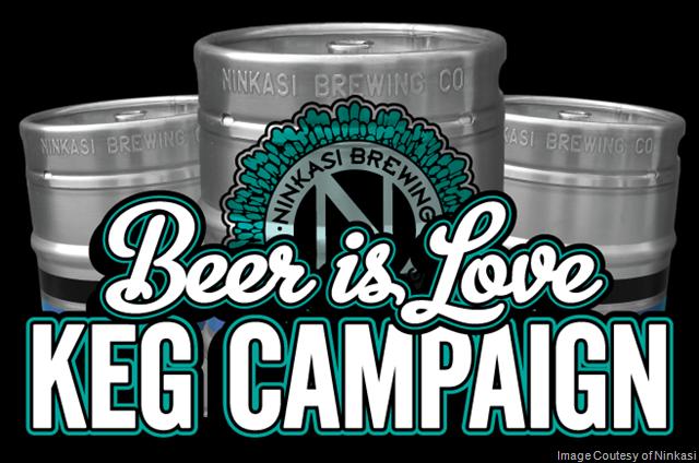 Ninkasi Brewing Company Gives Back With Beer is Love® Keg CampaignNinkasi Brewing Company Gives Back With Beer is Love® Keg Campaign