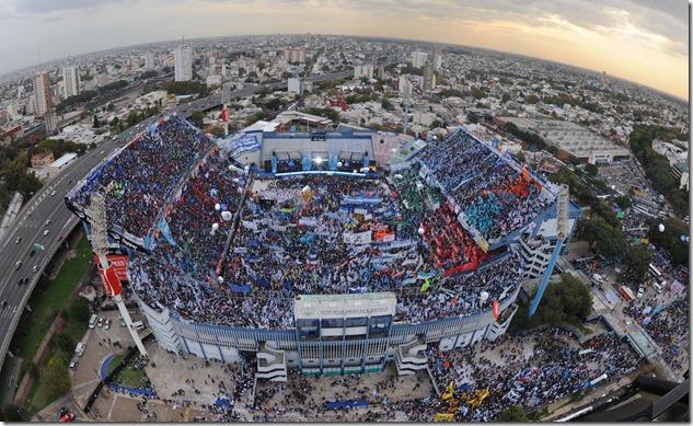 Estadio Velez Sarsfield vista desde arriba