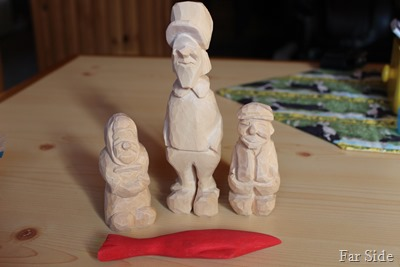 Carvings to paint