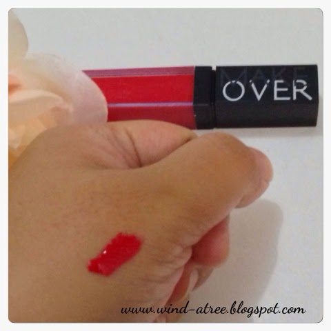 Review Make Over Liquid Lip Color Red Temptation