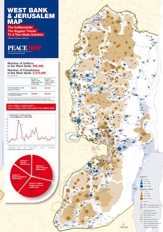 Map of Palestine - Israel 2011