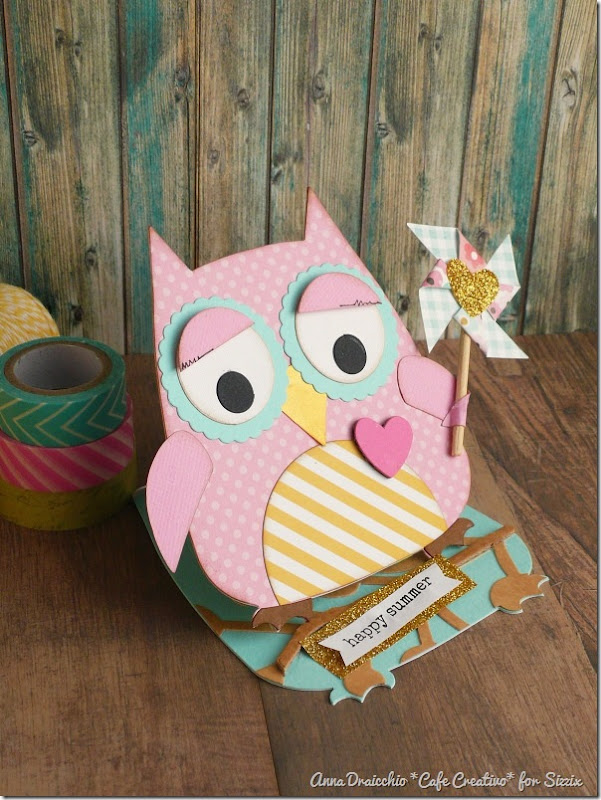 Easel Card Owl - sizzix bigshot plus by cafecreativo (2)