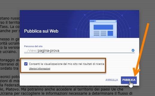 pubblicare-google-sites
