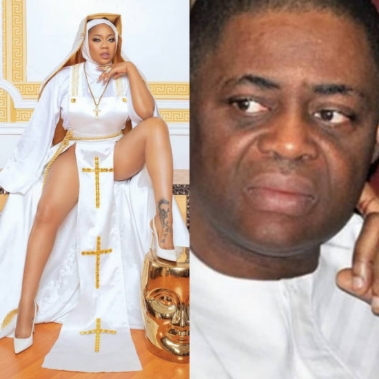 This is anti-christ and Ghetto Rubbish – FFK slams Toyin Lawani, over her racy nun outfit