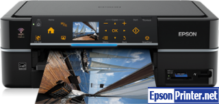 How to reset flashing lights for Epson PX730FWD printer