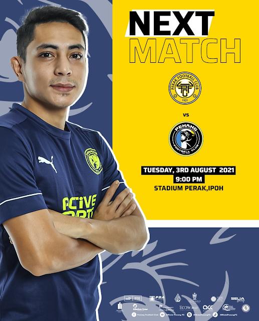 Live Streaming Perak vs Penang 3.8.2021