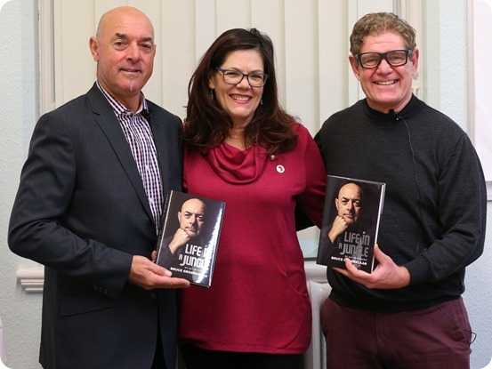 Pre-event - Bruce Grobbelaar with Denise Lawton and Steve Lawton from Nantwich Bookshop