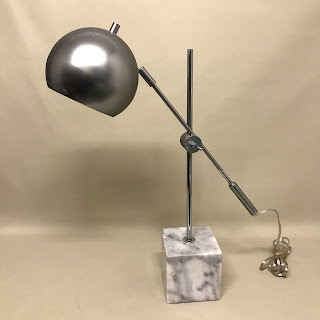Marble and Chrome Table Lamp
