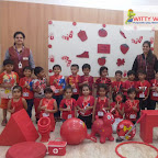 Red Day Celebration by Jr Kg Section at Witty World, Chikoowadi (2018-19)