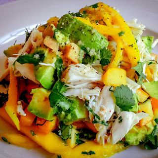 Crab Salad with Avocado and Fresh Fruits