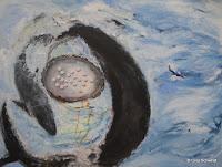 'Tanz mit den Walen', Acryl auf Leinwand, 120x160, Juni 2011