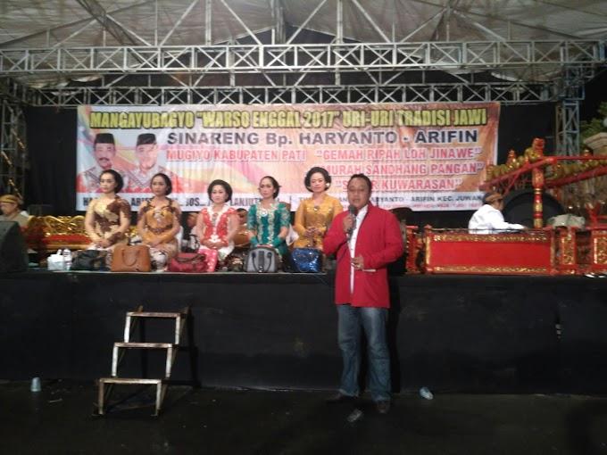 Campursari Dicenter Pemenangan Haryanto-Arifin di Juana Pati