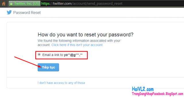 đăng nhập twitter lấy lại mật khẩu