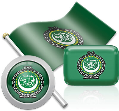 Arabs flag icons pictures collection