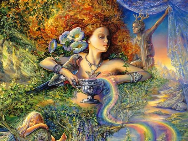 Goddess And Cup Of Life, Goddesses